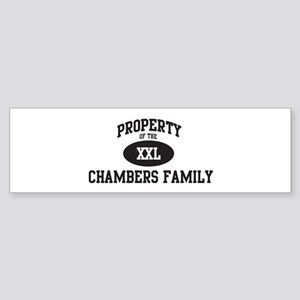 Property of Chambers Family Bumper Sticker