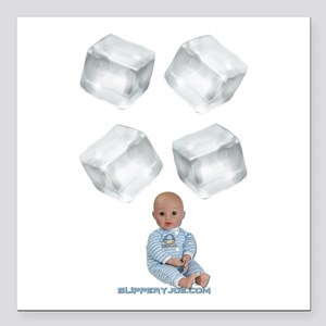 """ice baby Square Car Magnet 3"""" x 3"""""""