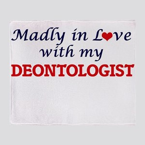 Madly in love with my Deontologist Throw Blanket