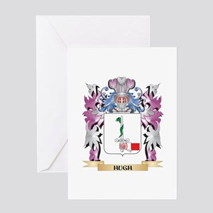 Hugh Coat of Arms (Family Crest) Greeting Cards