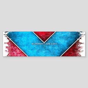 Retro Arrows in Red and Blue Bumper Sticker