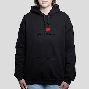 I Love COLOMBIA Women's Hooded Sweatshirt