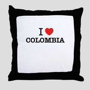I Love COLOMBIA Throw Pillow