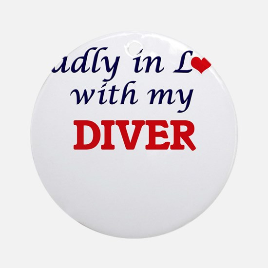 Madly in love with my Diver Round Ornament