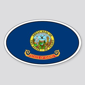 Idaho State Flag Oval Sticker