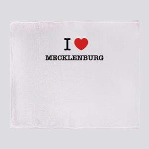 I Love MECKLENBURG Throw Blanket