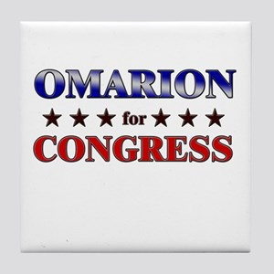OMARION for congress Tile Coaster