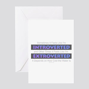Introverted - Extroverted Greeting Cards