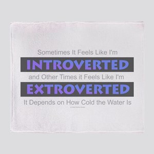 Introverted - Extroverted Throw Blanket