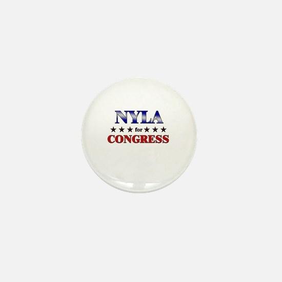 NYLA for congress Mini Button