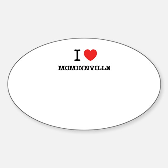 I Love MCMINNVILLE Decal
