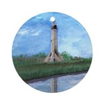 Louisiana Lighthouse Art Ornament (Round)