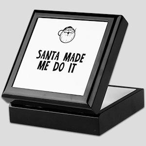 Santa Made Me Do It Keepsake Box