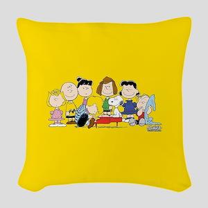 Peanuts Gang Music Woven Throw Pillow