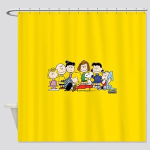 Peanuts Gang Music Shower Curtain