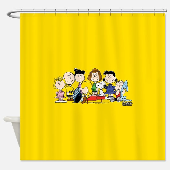 Peanuts Gang Music Shower Curtain