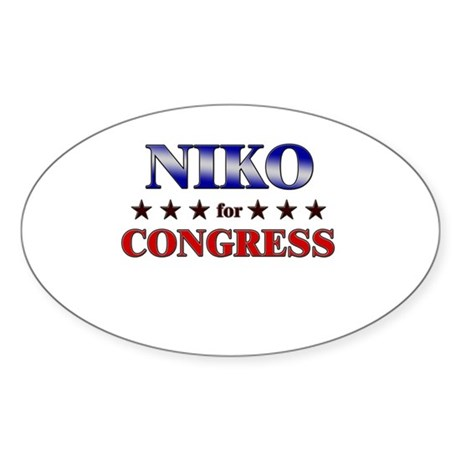 NIKO for congress Oval Sticker