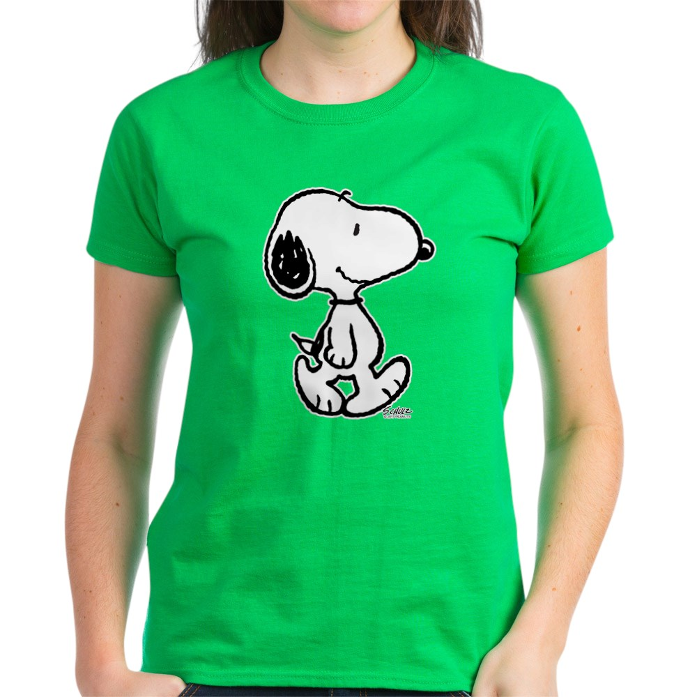 CafePress-Peanuts-Snoopy-T-Shirt-Women-039-s-Cotton-T-Shirt-186672854 thumbnail 62