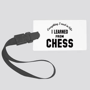 I learned from Chess Large Luggage Tag
