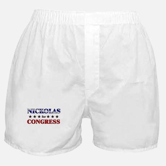 NICKOLAS for congress Boxer Shorts
