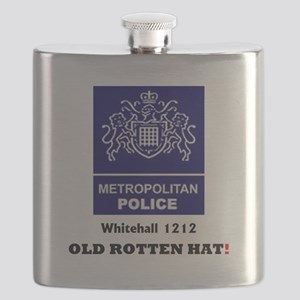 METROPOLITAN POLICE - OLD ROTTEN HAT - WHITE Flask