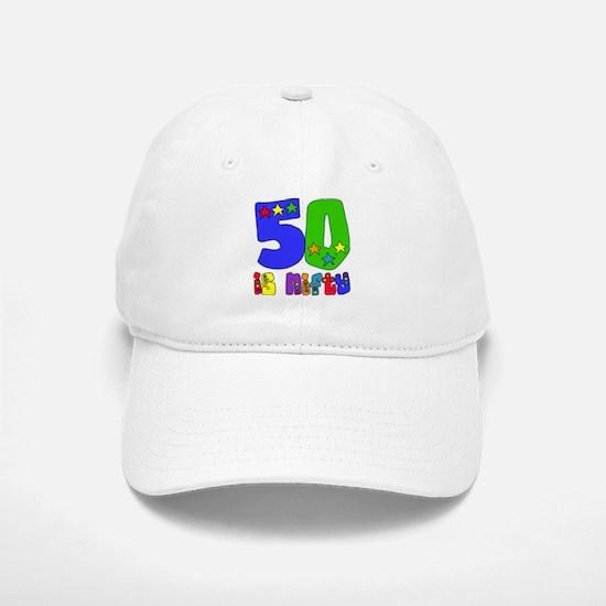 50 is Nifty (stars) Baseball Baseball Cap