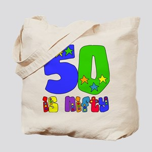 50 is Nifty (stars) Tote Bag