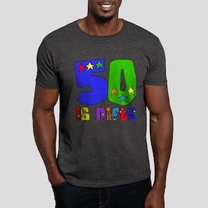 50 is Nifty (stars) Dark T-Shirt