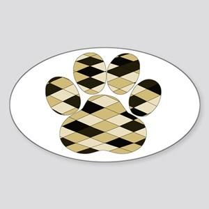 Dog Paw Art Sticker