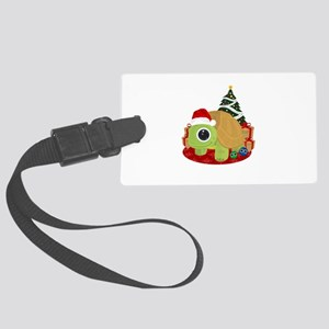 Christmas - Turtle Large Luggage Tag