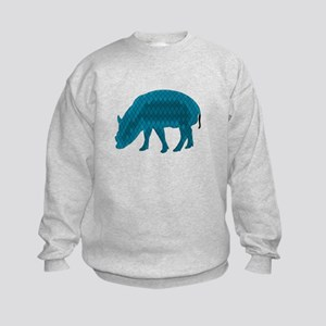 Geometric Pig Kids Sweatshirt