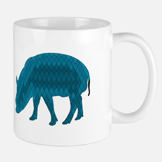 Geometric Pig Mugs