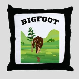 Bigfoot lives! Throw Pillow