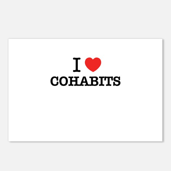 I Love COHABITS Postcards (Package of 8)