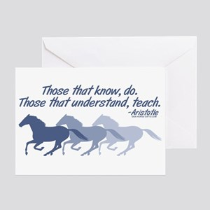Those that understand, teach Greeting Card