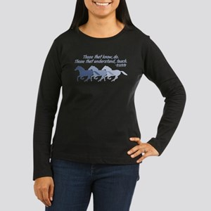 Those that understand, teach Women's Long Sleeve D