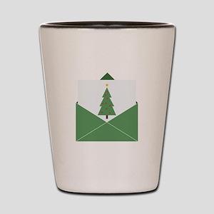 Christmas Card Shot Glass