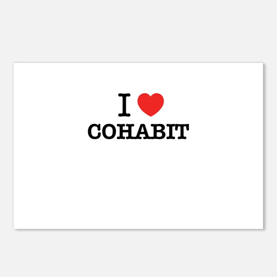 I Love COHABIT Postcards (Package of 8)