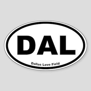 Dallas Love Field Oval Sticker