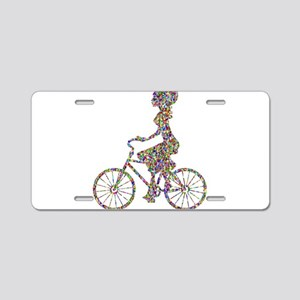 Chromatic Rainbow Woman Bic Aluminum License Plate
