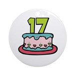 17th Birthday Cake Ornament (Round)