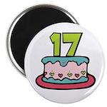 17th Birthday Cake Magnet