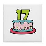 17th Birthday Cake Tile Coaster