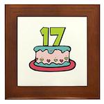 17th Birthday Cake Framed Tile
