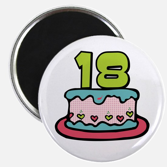 18th Birthday Cake Magnet