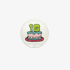 18th Birthday Cake Mini Button