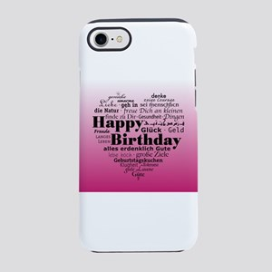 Pink Happy Birthday Heart iPhone 8/7 Tough Case
