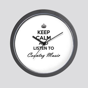 Keep calm and listen to Country Music Wall Clock