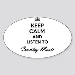 Keep calm and listen to Country Music Sticker