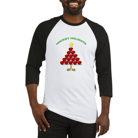 Happy Hockey Holidays Baseball Jersey